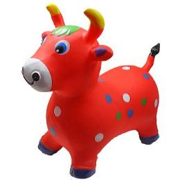 12 of Inflatable Jumping Red Cattle
