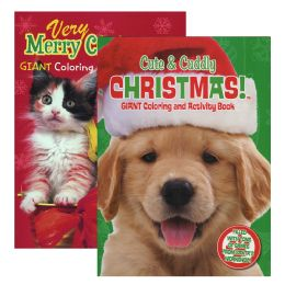 48 Units of Puppies & Kittens Christmas Coloring & Activity Book - Coloring & Activity Books