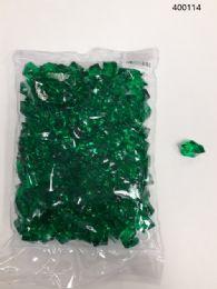 36 Bulk Plastic Decoration Stones In Dark Green