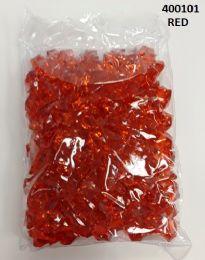 36 Bulk Plastic Decoration Stones In Red