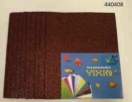 24 Bulk Eva Foam With Glitter 12x18 10 Sheets In Brown