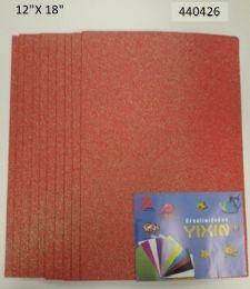 24 Bulk Eva Foam With Glitter 12x18 10 Sheets In Coral
