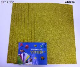 24 Bulk Eva Foam With Glitter 12x18 10 Sheets In Gold