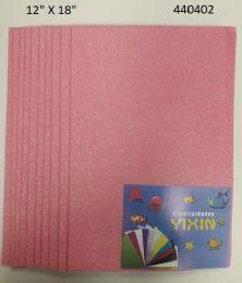 24 Bulk Eva Foam With Glitter 12x18 10 Sheets In Light Pink