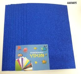 24 Bulk Eva Foam With Glitter 12x18 10 Sheets In Royal Blue