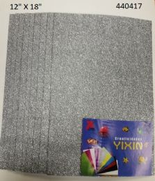 24 Bulk Eva Foam With Glitter 12x18 10 Sheets In Silver