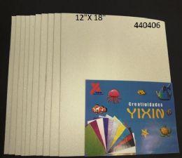 24 Bulk Eva Foam With Glitter 12x18 10 Sheets In White