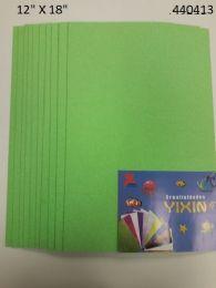 "48 Bulk Eva Foam W/ Glue And Glitter 12""x12"" 10 Sheets In Lime Green"