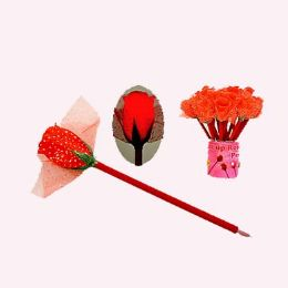 24 Units of Light Up Heart Pen - Valentine Cut Out's Decoration