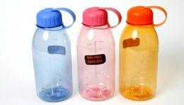 """24 Wholesale Plastic Water Bottle - 28 Oz, 8-1/4"""""""