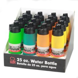 16 Wholesale Water Bottle,frosted, Pdq 16 Pc.
