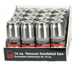 16 Wholesale Stainless Steel Vacuum Can W/straw 16oz.,