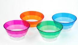 "36 Units of Salad Bowl, 4 Assorted Colors 6"" Diameter - Plastic Bowls and Plates"