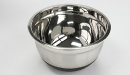 12 Units of Stainless Steel Mixing Bowl, Nonskid 3 Qt. - Baking Supplies