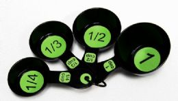 72 Units of Measuring Cup 4 Piece - Green & Black - Measuring Cups and Spoons