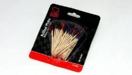 72 Units of Frilled Picks - 50 Piece - Toothpicks