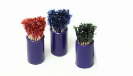 72 Units of Frilled Picks, 3 Pack - Toothpicks