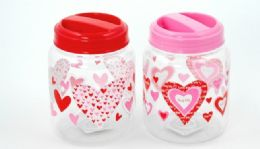 """24 Units of Storage Jar - Valentine, Red/pink 5-1/2"""" High - Valentines"""