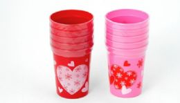 36 Units of Valentine Cups - 5 Pack. 10 Oz. - Valentines