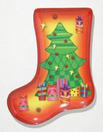 "24 Units of Plate, Stocking ShapeD- Tree, 9-1/2"" - Christmas Stocking"