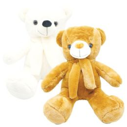 """12 Units of 22"""" Teddy Bear With Scarf - Valentines"""