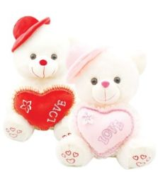 """6 Wholesale 20"""" Bear With/heart+hat"""
