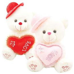 """12 Wholesale 16"""" Bear With /heart"""