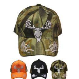 24 Units of Deer Hunting Baseball Cap - Hunting Caps