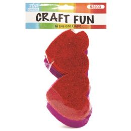 96 Units of Eva Double Heart Craft Fun - Valentine Cut Out's Decoration
