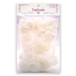 144 Units of Satin Rose Petal White - Valentine Cut Out's Decoration