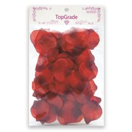 144 Units of Satin Rose Petal Dark Red - Valentine Cut Out's Decoration