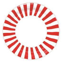96 Units of Nine Inch Eight Count Paper Plate Red - Valentines