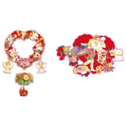 """96 Units of 18"""" V-Day 3d Cutout - Valentine Cut Out's Decoration"""