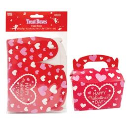 96 Units of Six Pack Treat Boxes - Valentine Gift Bag's