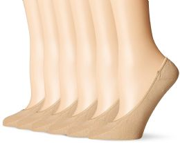 180 Units of Women's Mesh No Show / Silicone No Slip Loafer Sock Liner Nude - Womens Foot Liners