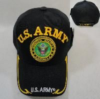 24 Wholesale Licensed Us Army [seal] Ball Cap *black Only