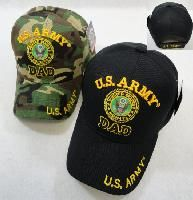 24 Wholesale Licensed Us Army Dad Ball Cap *assorted Colors