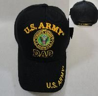 24 Wholesale Licensed Us Army Dad Ball Cap *black Only