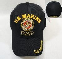 24 Wholesale Licensed Us Marine Dad Ball CaP-Black Only