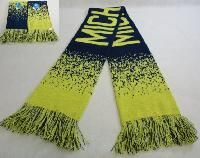 48 Units of Michigan Knitted Scarf With Fringe - Winter Scarves