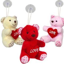 "120 Units of Plush ""love"" Bear Window Hangers - Valentines"