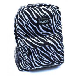 "40 Units of 16.5"" Zebra Prints Backpack For Girls Assorted Colors - Backpacks 16"""