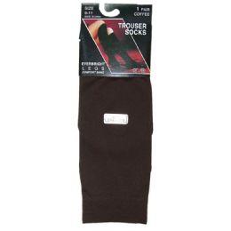 360 Bulk Ladies Trouser Socks Size 9-11 - Coffee