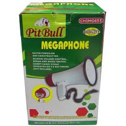 6 Bulk Compact Megaphone With Speak And Music Switch