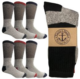 6 of Yacht & Smith Womens Cotton Thermal Crew Socks , Warm Winter Boot Socks Size 9-11