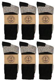 12 Bulk Yacht & Smith Womens Cotton Thermal Crew Socks , Warm Winter Boot Socks 9-11