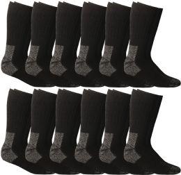 12 of Yacht & Smith Men's Heavy Duty Steel Toe Work Socks, Black, Sock Size 10-13