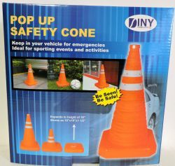 24 Units of Pop Up 16 Inch Safety Cone Emergency Sporting Events And Kids Activities - Safety Helmets