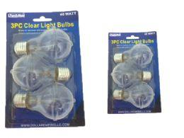 48 of Light Bulb 3pc 40watt Clear