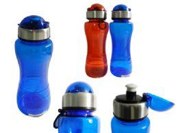 48 Wholesale Sport Water Bottle With Flip Top
